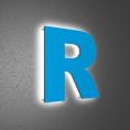 Плоские буквы с контр-ажуром